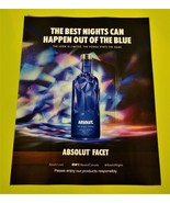 ABSOLUT FACET Canadian Vodka Magazine Ad NEW FOR 2016 - $4.99