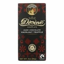 Divine - Bar Dark Chocolate Hazelnut Trffl - Case Of 12 - 3 Oz - $54.97