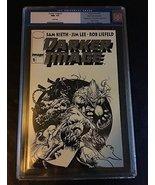 DARKER IMAGE #1 CGC NM+ 9.6 COMIC BOOK BLACK & WHITE EDITION SILVER FOIL... - $123.75