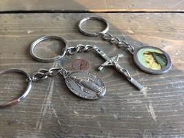 3 Religious Key Chains Relic Cross - $9.89