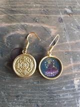 Vintage Hindu Gold Tone Dangle Earrings - $9.89