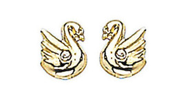 "14K Gold Earrings Swan 2 For $48.00 ""On Sale This Week"" - $47.04"
