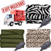 Electric Heated Throw Blanket Warming Washable Sunbeam Soft Heat Fleece ... - $48.39+