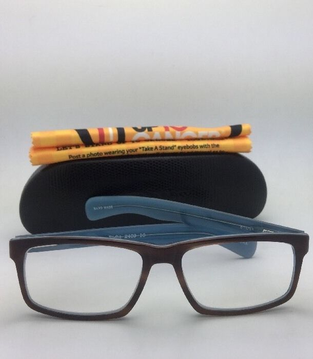 Readers EYE•BOBS Eyeglasses I'M RIGHT 2409 10 +3.00  Brown Tortoise & Blue Frame