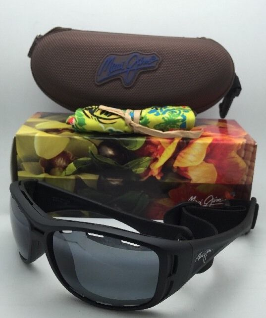Polarized MAUI JIM Sunglasses MJ 410-2M WATERMAN Black Frame w/Neutral Grey Lens