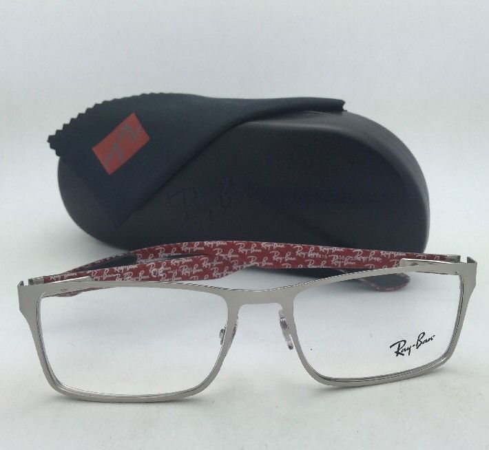 New RAY-BAN Rx-able Eyeglasses RB 8415 2538 53-17 Silver Frames w/ Carbon Fiber