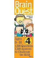 Brain Quest Grade 4, revised 3rd Edition : 1500 Q & A to Challenge the Mind - $14.95