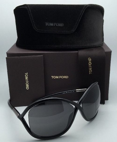 New TOM FORD Sunglasses WHITNEY TF 9 199 64-14 110 Black Frame w/ Grey Lenses