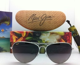 MAUI JIM Titanium Sunglasses MAVERICKS GS 264-17 Silver w/Neutral Grey Polarized image 2