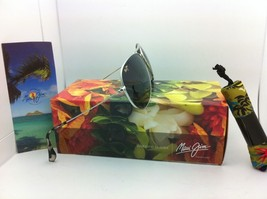 MAUI JIM Titanium Sunglasses MAVERICKS GS 264-17 Silver w/Neutral Grey Polarized image 5