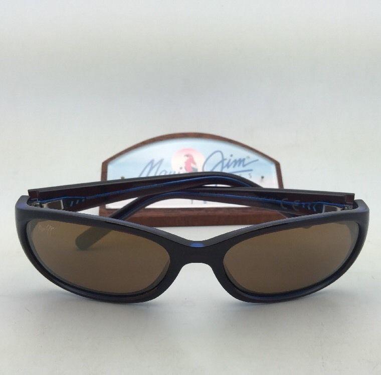 54f6beb562d Polarized MAUI JIM Sunglasses KUIAHA BAY MJ 286-26C Rootbeer Blue Frame  w Bronze