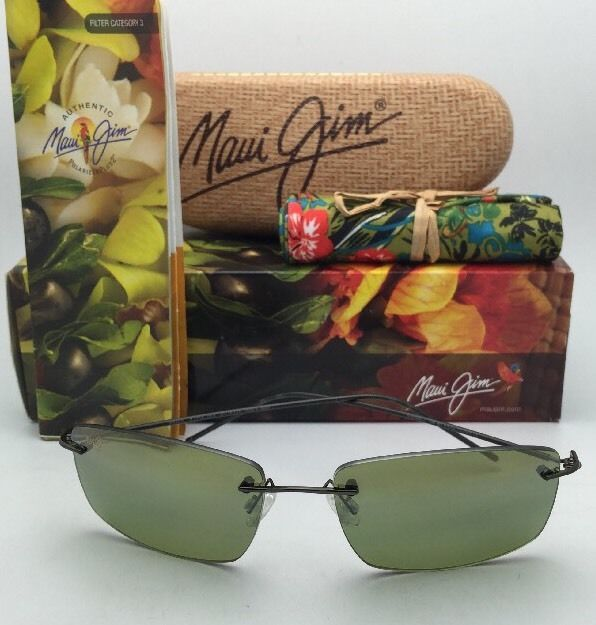 Rimless MAUI JIM Sunglasses SANDHILL MJ 715-02D Drk Gunmetal w/Polarized Maui HT