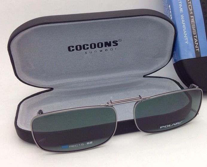 c7d8e89034c COCOONS Grey Polarized Sunglasses Eyeglasses Over Rx Clip-on ...