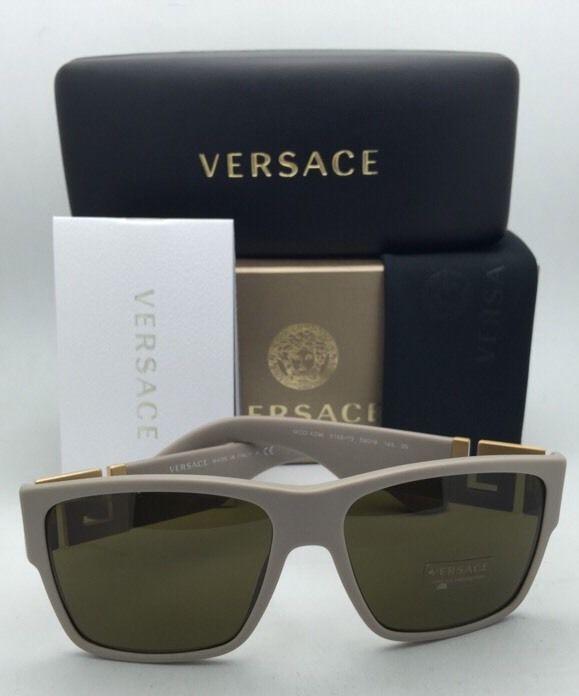 6e42e9bf92 ... New VERSACE Sunglasses VE 4296 5146 73 59-16 Beige   Gold Frames w ...
