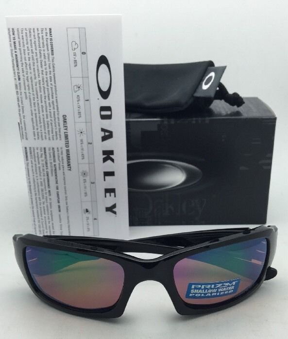 Polarized OAKLEY Sunglasses FIVES SQUARED OO9238-18 Black w/ Prizm Shallow H2O