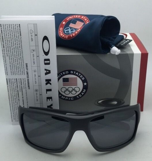 Team USA OAKLEY Sunglasses TURBINE OO9263-17 Grey Frame w/ Black Iridium Lenses