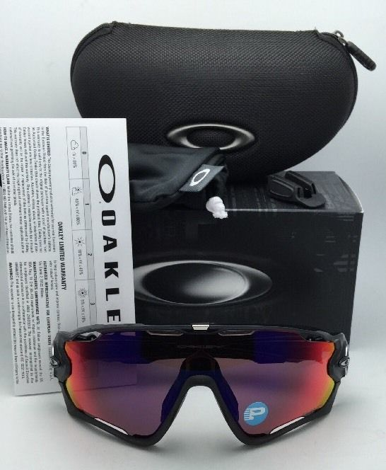New Polarized OAKLEY Sunglasses JAW BREAKER OO9290-08 Black Ink w/OO Red Iridium