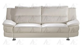 American Eagle AE768-SW Snow White Sofa Top Graded Bonded Leather - $18.348,59 MXN