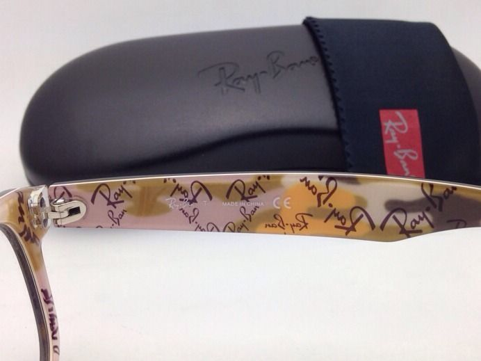 New RAY-BAN Rx-able Eyeglasses/Frames RB 5184 5409 Matte Havana /Text Camouflage