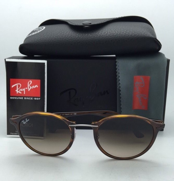New RAY-BAN Tech Series Sunglasses RB 4242 6201/13 Havana Tortoise w/ Brown Fade