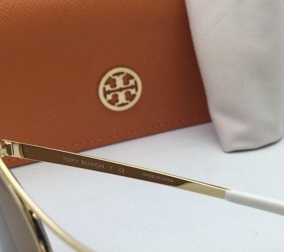 71663089227b New TORY BURCH Sunglasses TY 6037 304797 56-16 Gold & Ivory White w/