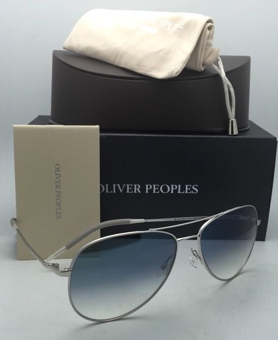 b8d1a8fcbc ... OLIVER PEOPLES PHOTOCHROMIC Sunglasses KANNON OV 1191-S 5036 3F Silver  with Blue ...