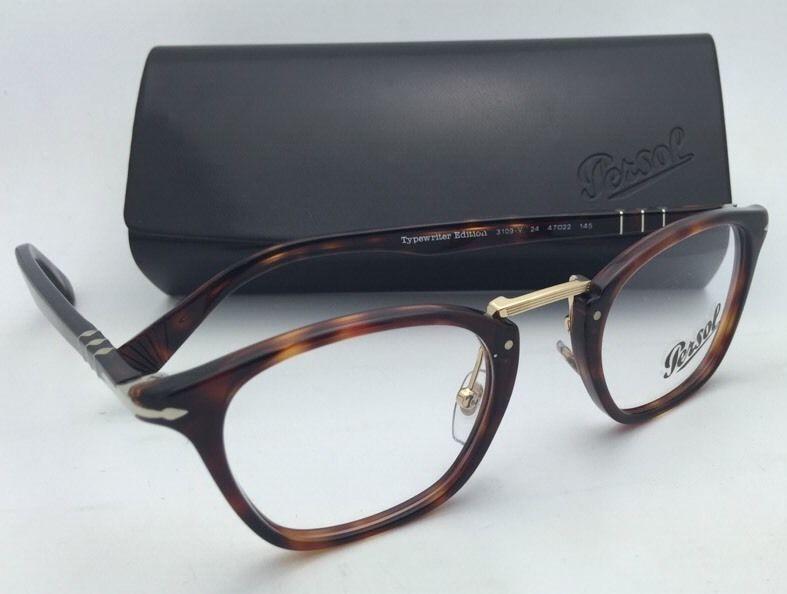 56e7a2830053c New PERSOL Eyeglasses Typewriter Edition 3109-V 24 47-22 Havana Frame w