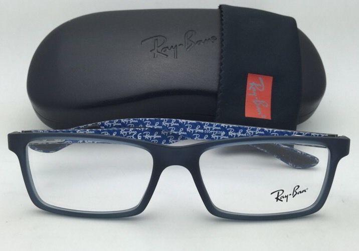 933a7ec6c92 New RAY-BAN Eyeglasses TECH SERIES RB 8901 5262 53-17 Blue-Grey Frames w   Demos