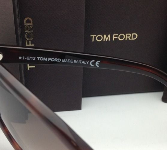 2525ac533a561 New TOM FORD Sunglasses MADISON TF 253 52F Havana Cat-Eye Frame w Brown