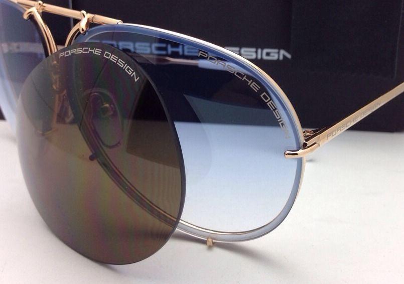 17f6904efcce PORSCHE DESIGN Titanium Aviator Sunglasses P 8478 W 69-10 Gold White-2 Lens  Sets