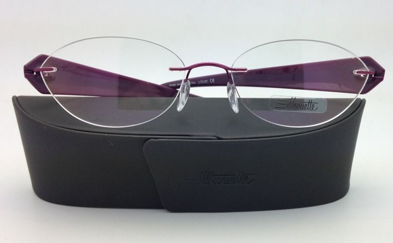New SILHOUETTE Eyeglasses MYSTERO 6699 6052 54-17 Burgundy w/ Clear Demo lenses