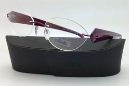 New SILHOUETTE Eyeglasses MYSTERO 6699 6052 54-17 Burgundy w/ Clear Demo lenses image 6