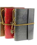 STEAMPUNK Vintage Style Leather Cover Notebook Journal Diary String Naut... - $15.91