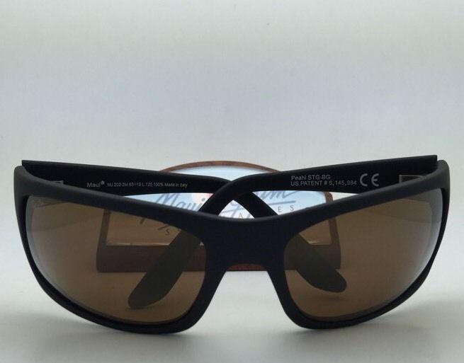 52976da7be7e6 Polarized MAUI JIM Sunglasses PEAHI MJ 202-2M Matte Black Frames w Bronze  Lenses