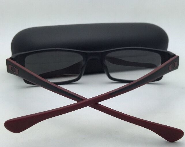 dd1b8c2bd0 New OAKLEY Eyeglasses SERVO OX1066-0451 51-18 Black  Brick-Red Frame
