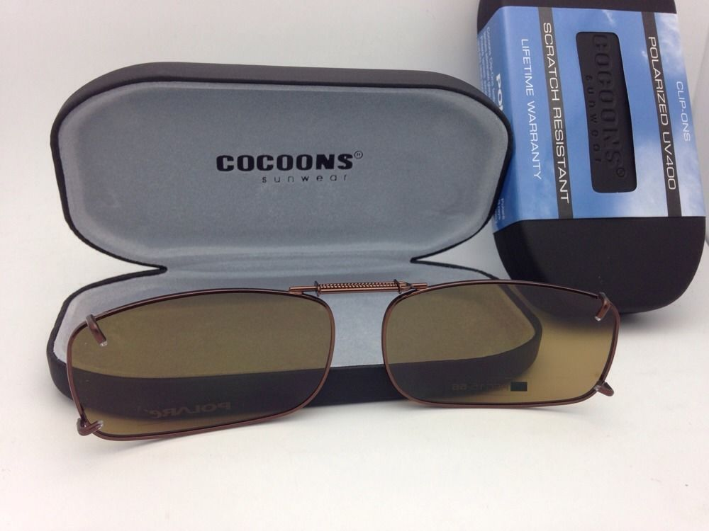ad033008d1 COCOONS Amber Polarized Sunglasses Eyeglasses Over Rx Clip-on ...