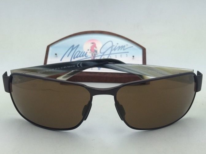 Polarized MAUI JIM Sunglasses BLACK CORAL MJ 249-19M Matte Bronze w/ HCL Bronze