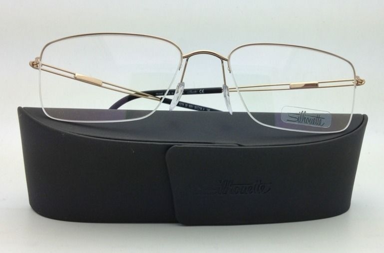 SILHOUETTE Eyeglasses TITAN NEXT GENERATION NYLOR 5278 6051 55-18 Gold w/ Clear