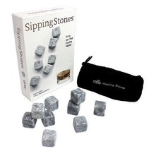 Sipping Stones Whiskey Chilling Rocks in Gift B... - $19.78