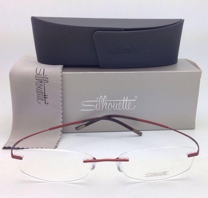 New SILHOUETTE Rimless Eyeglasses TITAN MINIMAL ART 7581 4248 6052 Black-Copper