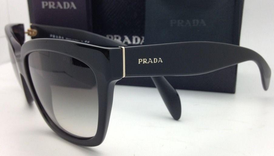 a18203e8588d ... authentic new authentic prada sunglasses spr 07p 1ab 0a7 56 18 black w  grey 978ca 71613