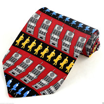 Vicky Davis Call Me! Mens Silk Necktie Cell Phone Business Neck Tie Gift... - $19.75