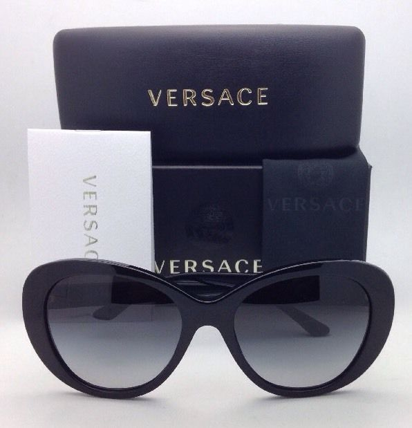 0c28b01d03f New VERSACE Sunglasses VE 4273 GB1 8G 56-18 Black w  Grey gradient