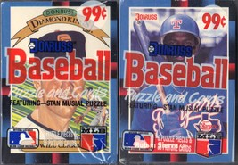 LOT OF 2 NEW & SEALED 1988 DONRUSS/LEAF BASEBALL CARDS-STAN MUSIAL PUZZLE - $6.44