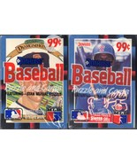 LOT OF 2 NEW & SEALED 1988 DONRUSS/LEAF BASEBALL CARDS-STAN MUSIAL PUZZLE - $7.88
