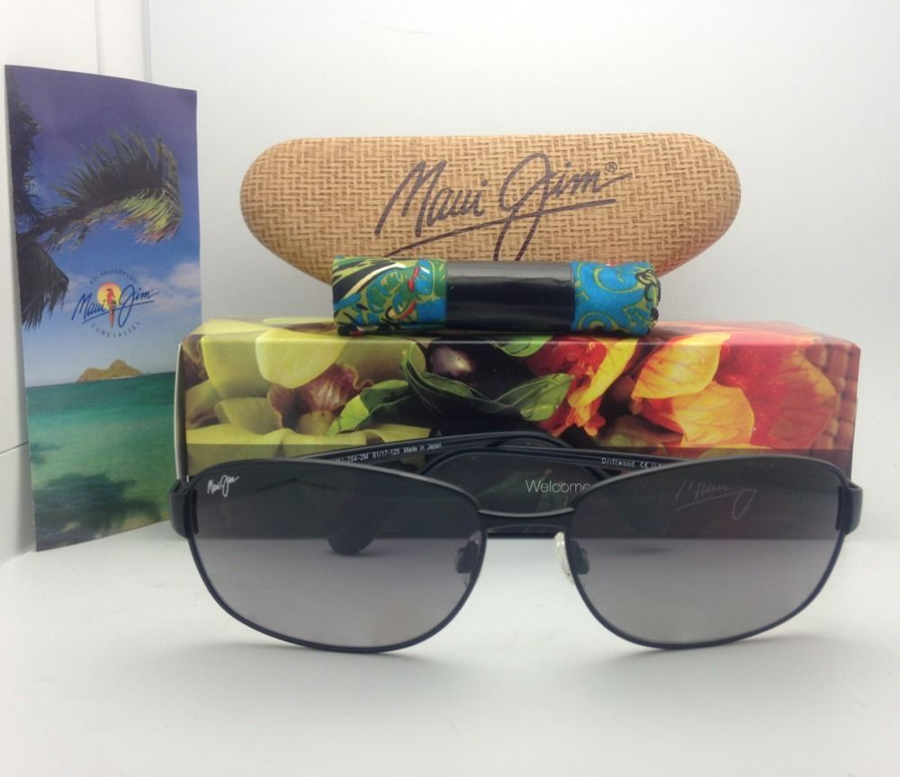 Polarized MAUI JIM Sunglasses DRIFTWOOD MJ 254-2M 61-17 Black w/ Neutral Grey