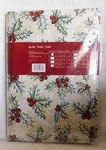 "Lintex Linens Festive Holiday Poinsettia 70"" Round Vinyl Tablecloth"