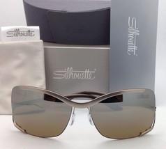 SILHOUETTE Sunglasses 8140 40 6221 Matte Cream Frames w/Brown Gradient Lenses image 2