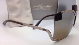 SILHOUETTE Sunglasses 8140 40 6221 Matte Cream Frames w/Brown Gradient Lenses image 4