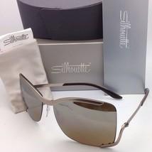 SILHOUETTE Sunglasses 8140 40 6221 Matte Cream Frames w/Brown Gradient Lenses image 6